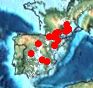yacimientos fósiles de Rhabdodon