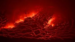 Lava en el cráter del Nyiragongo.