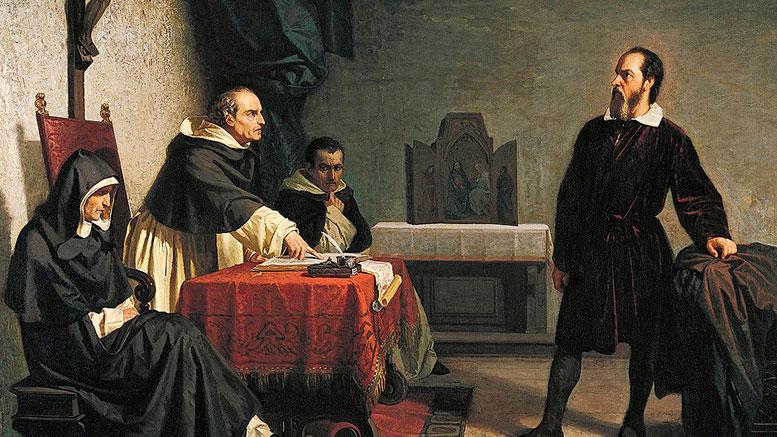 Galileo enfrentando a La Santa Inquisición